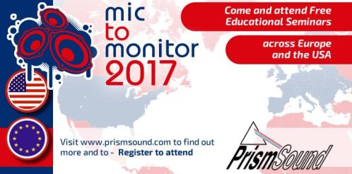 Prism Sound's 2017 Mic to Monitor tour