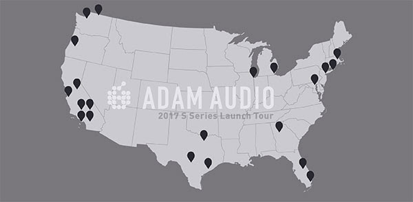 ADAM Audio Takes the New S Series on a 20 City Roadshow Throughout the U.S.
